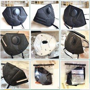 kn95 розовые лицевые маски поставляют розничной упаковке 95% фильтр 6 слоев конструктора маска для лица с активированным углем респираторов Респиратор клапан Mascherine