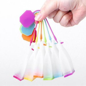 200pcs lot Hot Selling Bag Style Silicone Tea Strainer Tea Infuser Filter itchen Accessories Wholesale