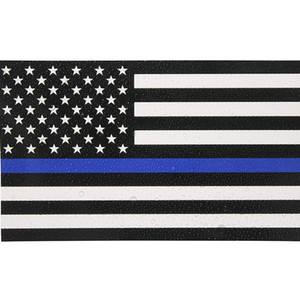 2020 Thin Blue Line Flag Decal - 6.5*11.5 CM American Flag Sticker for Cars and Trucks - Wall Window Stickers Decorative Stickers