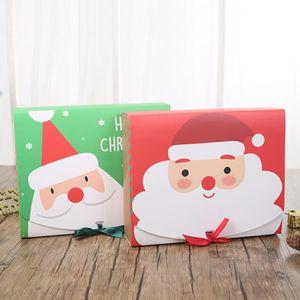 Christmas Paper Gift Box Cartoon Santa Claus Gift Packaging Boxes Christmas Party Favor Box Bag Kid Candy Box Xmas Party Supplies