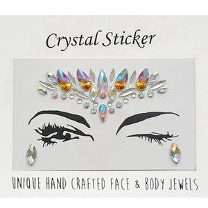 Diamond Sticker Bohemia Style Crystal Etiquetas Engomadas Del Tatuaje Face Forehead Paster Wedding Decorations Crystal Tattoo Stickers