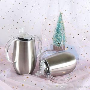 De acero inoxidable aislado Sippy para el niño de 8 oz vaso a prueba de derrames del niño de la taza de Sippy Bebé Con Sin -Spill libre de BPA Triton tapa