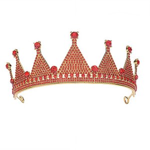 ACRDDK ретро Rhinestone Принцесса Корона Красочного День рождения Tiara Радуга Tiara Люкс Свадебные аксессуары для волос SL