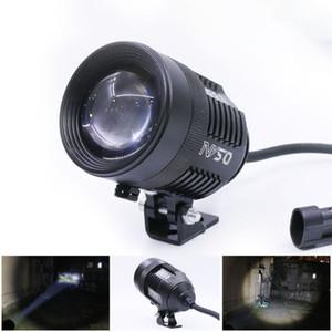 1PCS Motorcycle Spotlight Retractable Adjustable Tube External Spotlight Integrated LED Light 12V 30W LED Work Light