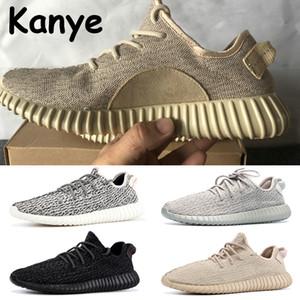 2020 hommes Kanye chaussures de course avec colombe privée boîte tortue tan noir oxford Moonrock hommes femmes sport formateurs chaussures chaussures de sport primeknit