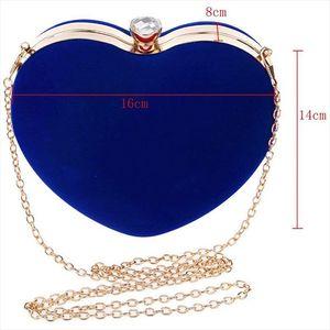 Evening Bags FGGS Heart Shape Clutch Bag Messenger Shoulder Handbag Tote Evening Bag Purse,blue Drop Shipping