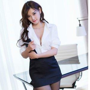 Nouveau col Sous-vêtements allure chemise blanche costume professionnel des enseignants chemise blanche sous-vêtements sexy allure costume secrétaire