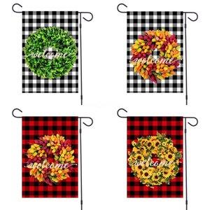 Сад Флаг Печать Маленькая собака шаблон Флаги Cristmas стиль нескольких цветов Anner Новое прибытие # 683