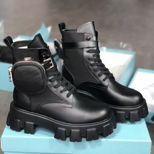 جديد إمرأة ريال الأحذية نايلون ديربي مارتن الأحذية أعلى جودة معركة جلدية أحذية الكاحل الأسود المطاط الوحيد منصة الأحذية النايلون الحقيبة مع مربع