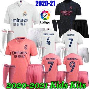 20 21 Kits para niños de fútbol Real Madrid Benzema Jersey JOVIC Modric Sergio Ramos KROOS PELIGRO kit 2020 2021 cabritos del niño deportivos Camisetas de fútbol