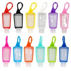 30ML Paquet de cas Sanitizer silicone main Sous bouteille de shampooing Gel Douche Makeup Container Nettoyant liquide avec la bouteille vide DHA897
