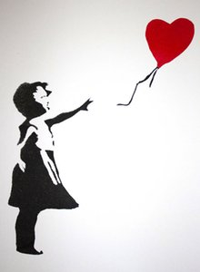 Banksy Balloon Girl on Canvas Decoração pintado à mão HD impressão pintura a óleo Canvas On Canvas Wall Art Pictures Para Sala 200831