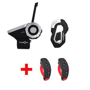 T-Rex + T-MAX S Motocicleta Grupo Bluetooth Intercom Helmet Headset 1500M 8 Riders sem fio Communicator com suporte FM + L3 Kit