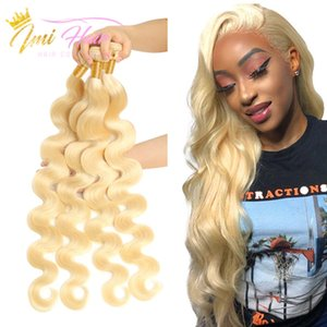Imi Hair 10A Grade High Quality Blonde 613 Brazilian Human Virgin Hair Bundles Remy Body Wave Weaves