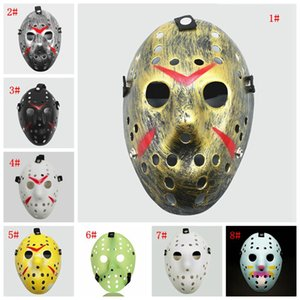 Masquerade Masks Jason Voorhees Mask Friday the 13th Horror Movie Hockey Mask Scary Halloween Costume Cosplay Plastic Party Masks GWF836