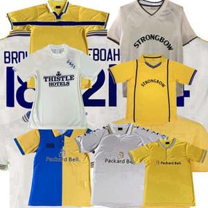 1978 1995 1996 1998 1999 2000 2001 ретро Лидса футбола Джерси VINTAGE Соединенного дома вдали Alioski SMITH Бэмфорд Ябуа ФАУЛЕР футбол рубашки