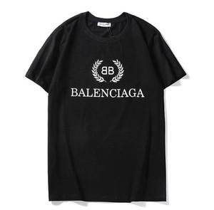 20SS Männer T-Shirt Marken BB MODE Homme Buchstabe gedrucktes T-Shirt Kurzarm Männer Frauen Hip Hop Street Style Spitzen T Q30