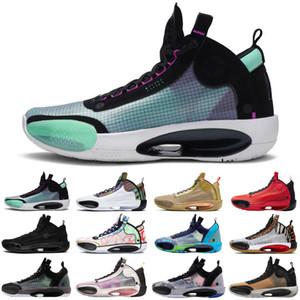 Top Patrimoine 34 hommes Jumpman chaussures de basket-ball bleu Void Zoo Noah Bayou Black Boys Cat nfrared 23 ASG formateurs hommes chaussures de sport