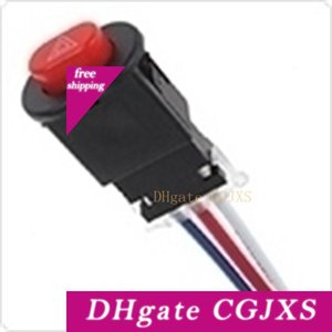 12v ~24v 5a Motorcycle Double Flash Dangerous Lamp Mini Switch With 3 Wires Built -In Lock Mot _307