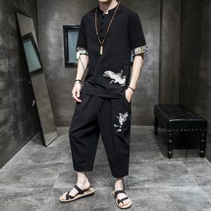 vêtements anciens vêtements hommes Han été coton hommes style chinois et costume Tang linge Zen