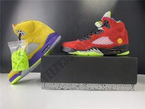 2020 lo que el cuadro de OG rojo amarillo reflectantes 5 5s Zapatos Hombres baloncesto atléticos de las zapatillas de deporte de los diseñadores Formadores CZ5725-700 7-13