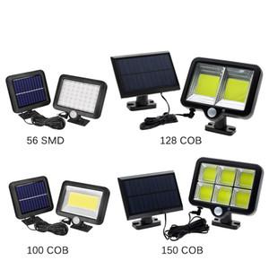 Lâmpada COB LED Luzes solares PIR Sensor de Movimento Waterproof Caminho Solar Lâmpada de rua por Outdoor Jardim Iluminação