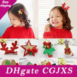 Nouveaux 10pc enfants mignon de Noël Décore Hairpins Multitype Gants arbre filles populaires Accessoires cheveux Pincer pour les enfants cadeau