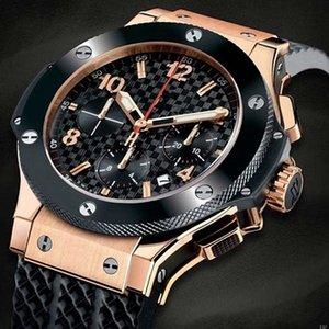 핫 판매 패션 로즈 골드 실버 고무 스트랩 Autoamtic 운동 기계 다이아몬드 드레스 남성 유리로 돌아 가기 남성 시계 손목 시계 시계