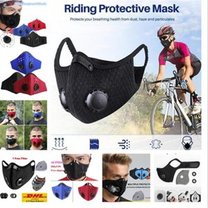 US STOCK! Design luxe cyclisme masque facial avec filtre charbon actif PM2,5 Anti-pollution Sport Courir Formation Protection Masque anti-poussière