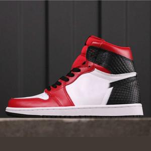 Snake raso Jordon 1 scarpe di alta OG in vendita con la scatola buona uomini donne scarpe di pallacanestro I prezzi all'ingrosso US4-US12
