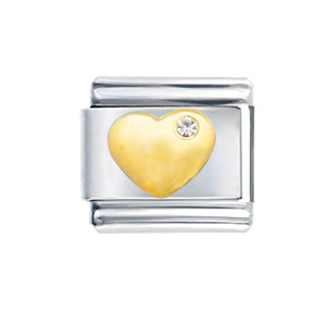 All'ingrosso dell'acciaio inossidabile 9 millimetri CLASSIC Taglia link componibili regolabili Ti amo cristallo cuore gonfio fascino italiano braccialetto link