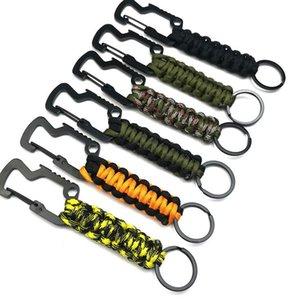 حبل في الهواء الطلق مظلة بدائل سلاسل المفاتيح معلقة حبل المظلة مزين سلسلة المفاتيح فتحت زجاجة سلسلة المفاتيح 6 ألوان KKA8069