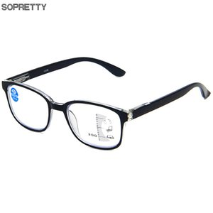 Anti blue light Multi-focu Reading Glasses Men Progressive Multifocal Glasses Women Near Far Sight Diopter Eyeglasses for Reader