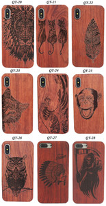 Wholesale Wood Phone Case for iPhone 6 7 8 11 Plus X XR XS Max Cherrywood Mobile Phone Cover Back Shell for Samsung