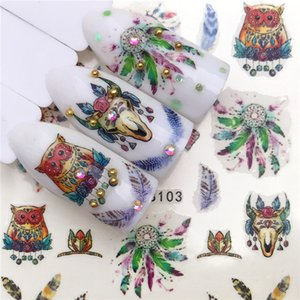 New Nail Art Sticker Decal Watermark Design Nail Sticker Waterproof Ornament Applique Fashion animal plant christmas nail decoration