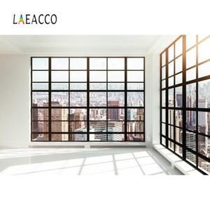 Laeacco Ville Viewhouse Français fenêtre Bâtiments soleil Bébé Inteiror photo backgrounds Backdrops photographiques pour Photo Studio