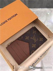 Heiße Frauen Portemonnaie Designer Luxus-Tasche Geldbörse aus echtem Leder-Kartenhalter Luft Stern 7264991 M62914 LOU Serie Größe 8x14.5x1cm mit Box 2