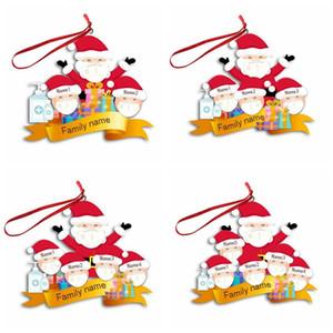 Noel Dekorasyon DIY Old Man Kardan adam kolye Noel ağacı Süsler Noel Süsleri Yılbaşı Dekoru Parti Hediye GWE1888 Asma maske