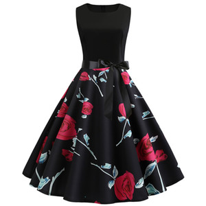 Fashion Wedding Dress Sexy Casual Dresses Women's Sleeveless Cocktail Floral Printed Party Summer Wedding Guest Dress
