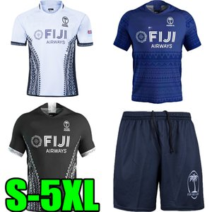 2020 2021 Fiji Home Away Rugby Jersey Sevens قميص Olympic Quality 18 19 20 21 Fiji National 7's Rugby Jersey Polo Shorts S-5XL