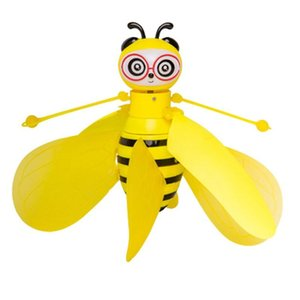 Mini abeja zángano UFO Control Remoto Juguetes RC Aviones Juguete animal Dropship RC helicóptero de la mosca de la bola del regalo de cumpleaños