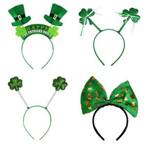 Jour irlandais St Patricks Bandeau vert Leprechaun hairband Accessoires Shamrock Boucle Déguisements Carnaval de Noël Party Favor