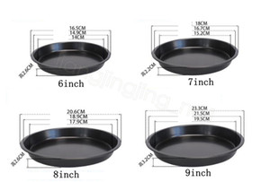 Non-Stick Pizza Baking Tray Round Deep Dish Pizza Pan Pie Tray Carbon Steel Cake Pastry Baking Mould Pan home tool FFA4241-3