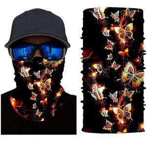 Sciarpe unisex farfalla stampa sciarpa lavabile campeggio all'aperto campeggio in corsa ciclismo traspirante rivestimenti viso maschere bandana anti-uv