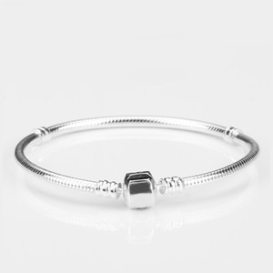 New Sterling Silver Bracelets 3mm Snake Chain Fit Pandora Charms Bead Bangle Bracelet Jewelry Making Gift for Men Women Factory Wholesale