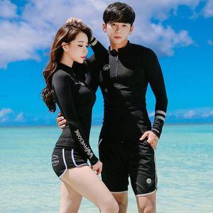 Корейский стиль поддержка сексуальных стал собрана черным длинного Diving защитного костюма бикини рукава ВС пары раскола бикини плавания костюм купальник