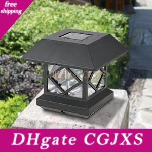 Énergie solaire lumière IP65 étanche résistant capteur extérieur Led mur Pillar Lamp Post Pour chapiter Garden Courtyard Porte Décoration