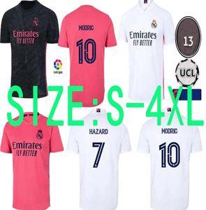 S - 4XL PELIGRO 2020 2021 Real Madrid Maillots de blancos del fútbol camisetas de fútbol camisetas Camisetas de fútbol real madrid versión del ventilador zidane