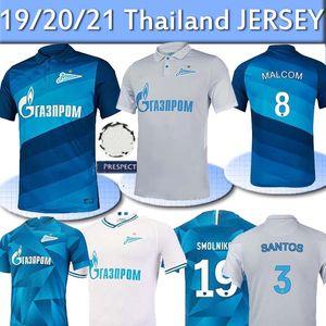 20 21 FC سانت بطرسبرغ زينيت لكرة القدم جيرسي المنزل بعيدا أزرق رمادي MALCOM Lovren 2020 maillots 2021 SANTOS باريوس كرة القدم قميص دي القدم التايلاندية