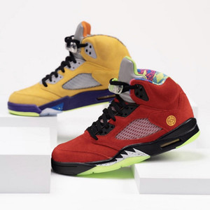 Lo más nueva venta zapatilla de deporte de los zapatos para hombre 5 El atleta de baloncesto del equipo universitario CZ5725-700 maíz Fantasma Verde Solar Orange 5s hombres retro entrenadores deportivos
